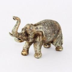 CERAMICS & GIFTS Slon dekoračný zlatý  15 cm