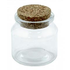 Dózička sklenená s korkovým uzáverom 100 ml