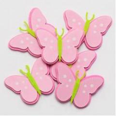 Motýľ drevený dekoračný sada 6 ks, 5,5x4 cm
