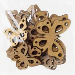 Motýľ drevený dekoračný 5x3,9x0,3 cm