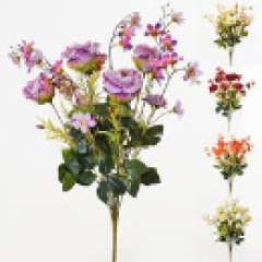 Kytica ruže s čerešňovým kvetom 55cm