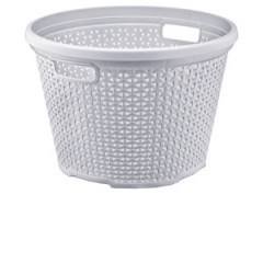 HOBBY PLASTIC Kôš na prádlo okrúhly vzor ratan 30 L Q 44x31 cm