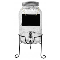 GLASS FEELING Nádoba sklenená s ventilom na stojane  3,5 l