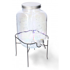 GLASS FEELING Nádoba sklenená s ventilom na stojane  4 l
