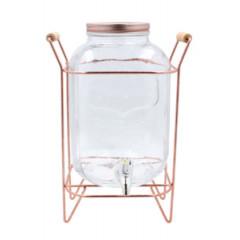 GLASS FEELING Nádoba sklenená s ventilom na stojane 5 l