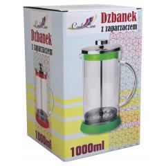 Nádoba na čaj a kávu s piestom  1 l