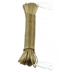 Šnúra na prádlo oceľová, potiahnutá plastom s poistnými háčikmi 20 m