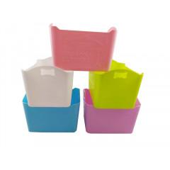 HOBBY PLASTIC Košík plastový s držiakmi 20 x 13 x 14 cm