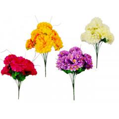 FLOWER HARMONY Kytica umelá chryzantéma 9 hlavičiek 58 cm