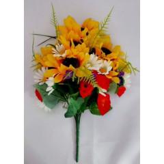 FLOWER HARMONY Kytica umelá so slnečnicami 40 cm