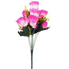 FLOWER HARMONY Umelý kvet ruže 9 hlavičiek, 53 cm