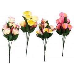 FLOWER HARMONY Umelé kvety 9 hlavičiek,  43 cm
