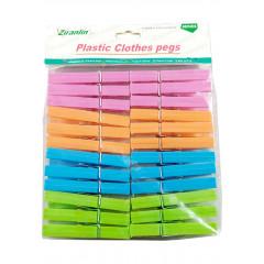 Štipce na prádlo plastové 24 ks