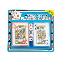Hracie karty dve sady + 5 kociek 7,5 x 16 cm