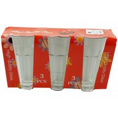 Sada pohárov 3 ks,  14x7 cm