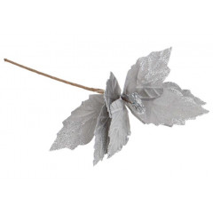 CHRISTMAS DECOR Kvet umelý 20 cm