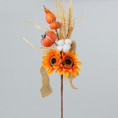 HOME DECO Vetvička jesenná oranžová
