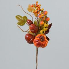 FLOWER HARMONY Vetvička jesenná oranžová