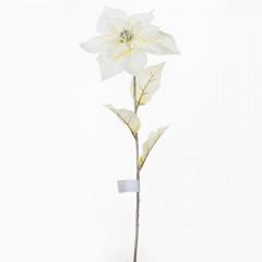 CHRISTMAS DECOR Kvet poinsettia krémová 65 cm