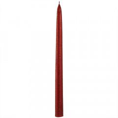CANDLE CHIC Sviečka DRAPANA červená 30 cm