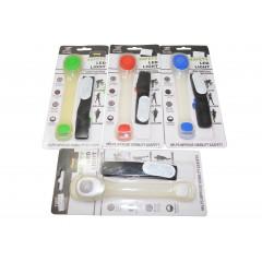 Reflexný pásik svietiaci s LED svetlom a reflexným pásikom.