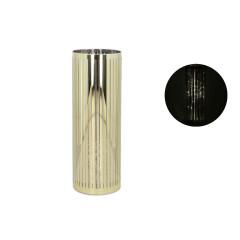 GLASS FEELING Dekoračný svietnik 20 LED 9x25cm zlatý