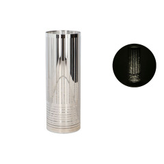 GLASS FEELING Dekoračný svietnik 20 LED 9x25 cm