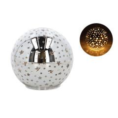 GLASS FEELING Sklenená guľa svietiaca LED Q 15 cm
