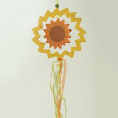 HOME DECO Jesenná dekorácia drevená slnečnica