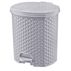 HOBBY PLASTIC Odpadkový kôš RATTAN 11,5 L  27,5 x 29 x 33 cm