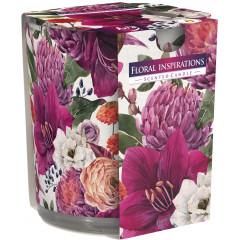 AROMA THERAPY Vonná sviečka v skle vôňa  Kvetinové inšpirácie