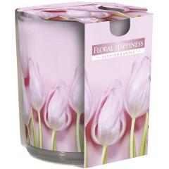 AROMA THERAPY Vonná sviečka v skle vôňa Kvetinové šťastie