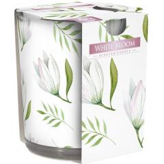 AROMA THERAPY Vonná sviečka v skle vôňa Biele kvety