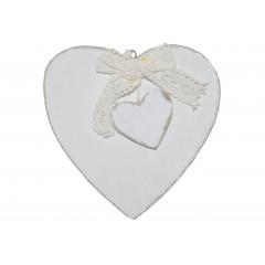 Dekoračný predmet- srdce drevené ,,vintage style,,