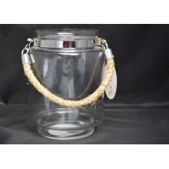GLASS FEELING Svietnik sklenený GARDEN výška 20 cm priemer 15 cm