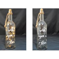 Dekoračná fľaša so svetlom LED