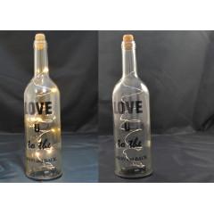Dekoračná fľaša so svetlom  LED 30 cm