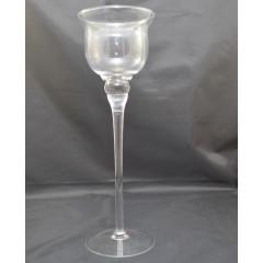 GLASS FEELING Svietnik sklenený  výška 40 cm
