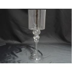 GLASS FEELING Svietnik sklenený  39 cm
