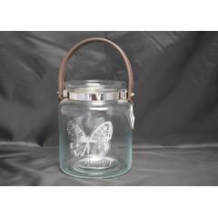 GLASS FEELING Svietnik sklenený výška 18 cm priemer 15 cm