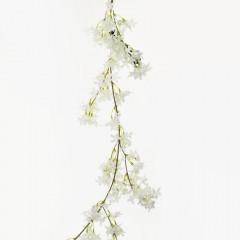 Konár, ťahačka, girlanda zlatovka biela 120  cm