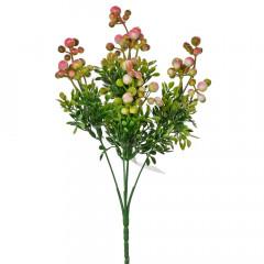 FLOWER HARMONY Dekoračná zeleň bobule ružové 30 cm