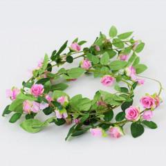 FLOWER HARMONY Girlanda ružová  180 cm