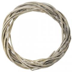 Veniec 1/4 prútie šedý 20x30 cm
